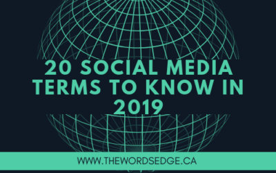 20 Social Media terms you must know in 2019