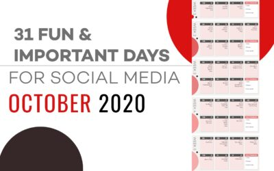 31 FUN IMPORTANT DAYS FOR SOCIAL MEDIA